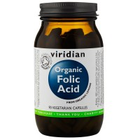 ВИРИДИАН Органична фолиева киселина - 90 капсули